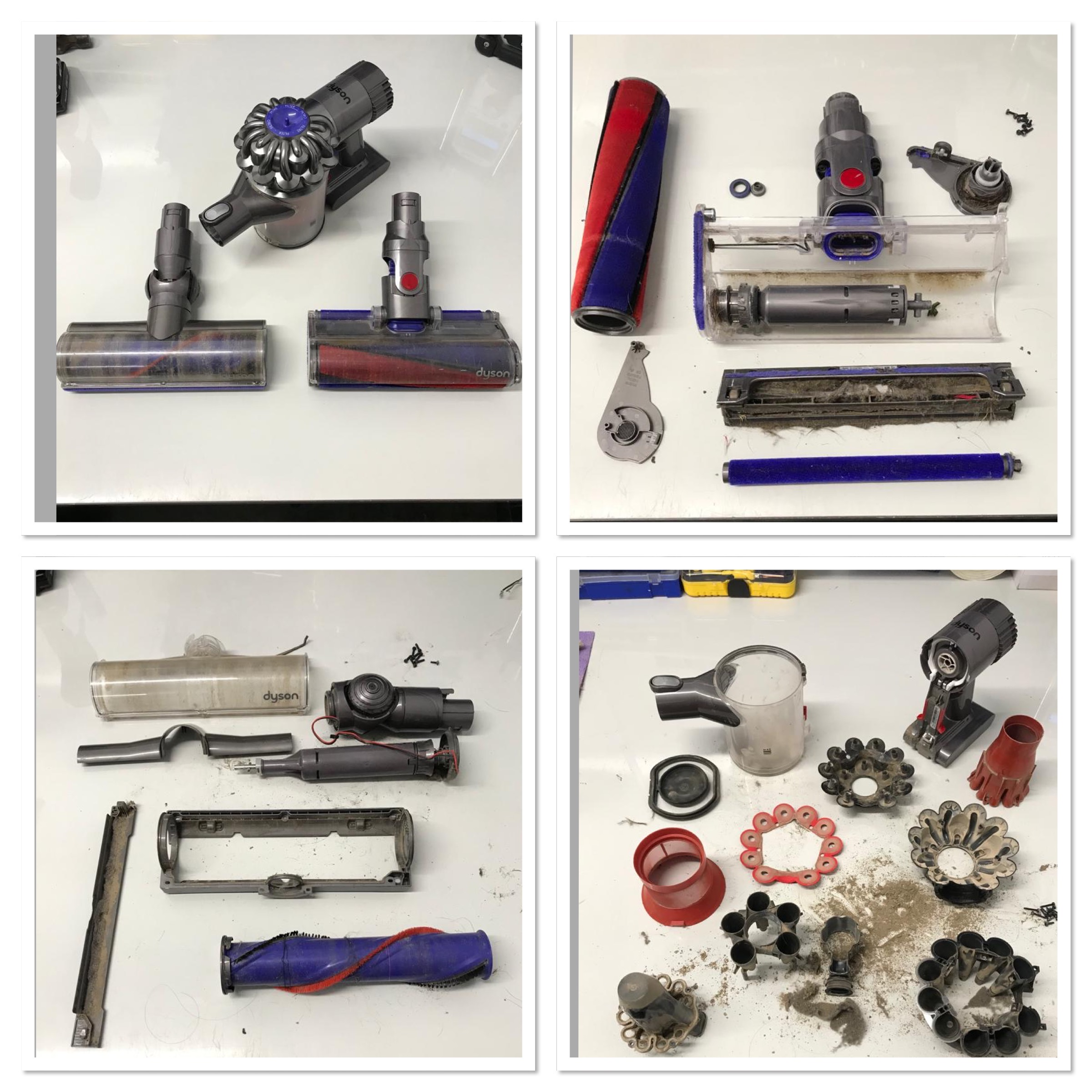 Dyson V6 Hand Held Vacuum in for a full Cyclone  & Motorhead Service.